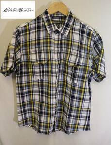 エディーバウアーチェック半袖シャツ/良品美品アウトドア綺麗なカラーS