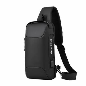 【新品】ボディバッグ メンズ USBポート付き 防水 ショルダーバッグ