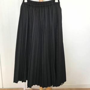 ニコアンド プリーツスカート リバーシブル ブラック ロングスカート