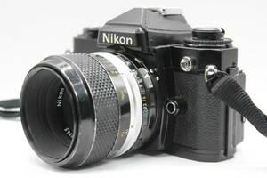 【実写撮影済】★良品★ Nikon FE ブラック MF-12 Micro Nikkor P Auto 55mm F3.5 3857
