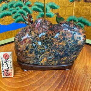 桜石 3.19kg ★ 鑑賞石 菊花石 桜石
