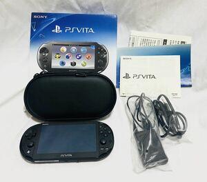 【送料無料/美品】SONY PSVita ブラック PCH-2000シリーズWi-Fiモデル+16GBメモリー付属