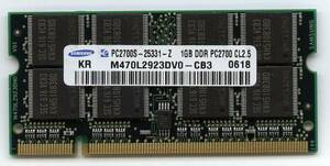 Note for memory 1GB×2 sheets set ( total 2GB) PC2700 200Pin prompt decision affinity guarantee used