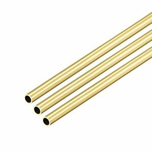 4mm x 0.5mm uxcell 真鍮丸管0.5 mm壁厚さシームレスストレートパイプチューブ 4m
