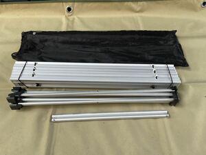 アルミロールテーブル キャンプツーリング アウトドア 折りたたみ式 コンパクト 超軽量