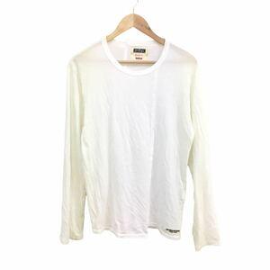 H356 人気 REGULATION Yohji Yamamoto ヨウジヤマモト 長袖 カットソー ロンT Tシャツ 白系 レーヨン混 綿 メンズ 1
