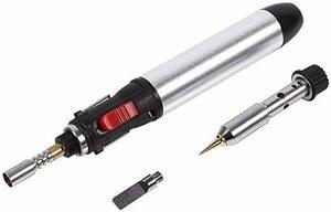 TOPINCN 4 In 1電気はんだごて ハンダゴテ ガス式半田ごて 温度調節(250℃~450℃) 機能アップ 精密溶接 小