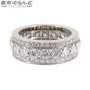 101531026★ヴァンクリーフ&アーペル アンラスモン リング 指輪 Pt950 フルエタニティー ダイヤモンド #51 パヴェ VCARO9VC00 仕上済