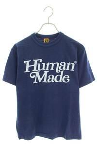【今だけ価格】ヒューマンメイド HUMAN MADE ガールズドントクライ サイズ:M ロゴプリントTシャツ ネイビー 【6090_2】【10】