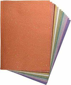 金銀振り B4判 【Amazon.co.jp 限定】和紙かわ澄 日本の色 もみ和紙 金銀振り B4 約25.7×36