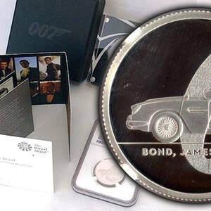 【超最高鑑定★世界9枚★COA付】1ポンド PF70 007 ジェームズ・ボンド イギリス 銀貨 2020年 NGC ULTRA CAMEO アンティーク モダン コイン