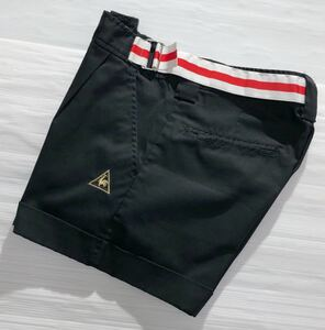 《le coq sportif GOLF ルコックゴルフ》ロゴ刺繍 ストレッチ素材 ゴルフ ショートパンツ ブラック 11