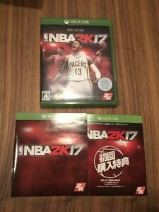 送料無料 初回版 Xbox One★NBA2K17★used import japan