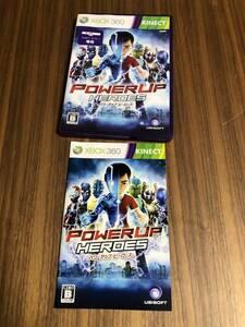 送料無料 Xbox360 キネクト★パワーアップヒーローズ★used☆PowerUp Heroes☆import japan