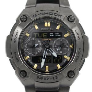 カシオ G-SHOCK MR-G ソーラー電波 メンズ 腕時計 アナデジ チタン ブラック×ゴールド MRG-7700B-1AJF【いおき質店】