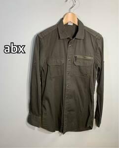 ■abx エービーエックス■2way 長袖シャツ カーキ サイズ:2☆BH-755