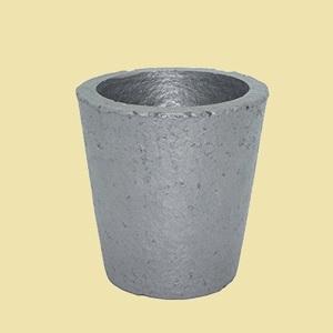 未使用 新品 炭化ケイ素黒鉛るつぼ 坩堝 6-MF 金銀銅融解用 (4#) 鋳造インゴット 金型 鋳型るつぼ シルバ-ゴ-ルド溶融