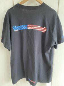 【新品】【XL】【星条旗】【新作】クロムハーツchromehearts 黒ブラック 半袖 Tシャツ ジャケット