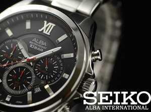 セイコー ALBA メンズ 100m防水 クロノグラフ 新品 激レア 入手困難 アルバ 海外限定モデル 日本未発売 SEIKO 腕時計