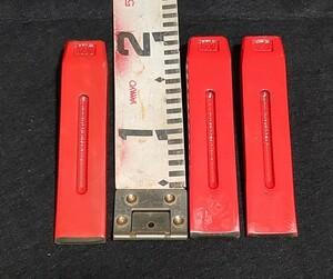 3個セット 平型 角型 薪割りクサビ ストレート(たき火 斧 薪ストーブ楔 木矢 鉄矢 木割