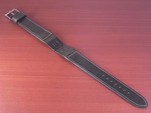 CC-032b アキュレイトフォルム 艶ありヌメ牛ステア 革ベルト オープンエンド オリーブ 16mm、18mm、20mm