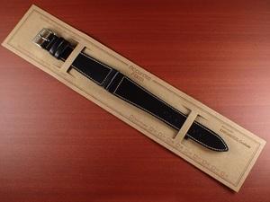 CBHC-05a ★新型★ アキュレイトフォルム ホーウィン クロムエクセル革ベルト レギュラー ブラック 16、17、18、19、20、22mm