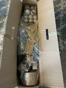 クリスマスツリー 110cm ポップアップスノー 雪とLED電球付 送料1800円