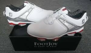 最高峰のツアーモデル ツアープロ使用 Footjoy TOUR X Boa 人気色 レッド 25.5cm フットジョイ最新テクノロジーが集結 日本正規品