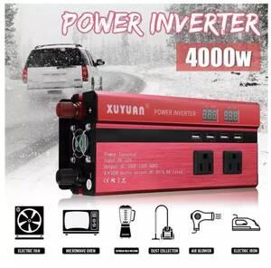 【新品 激安】インバーター(赤)出力4000W 入力DC12V 24V 出力AC110V AC220V 選択可能 C1564
