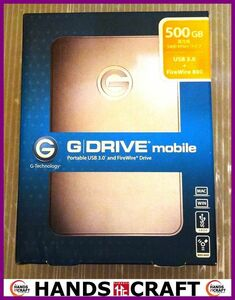 g-technology G DRIVE mobile unused goods 500GB/ Poreable USB3.0 FireWire800