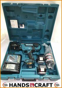 makita 鉄筋結束機 充電器 バッテリー×2 結束ワイヤ―×3 ケース付 中古品 TR180DZK マキタ