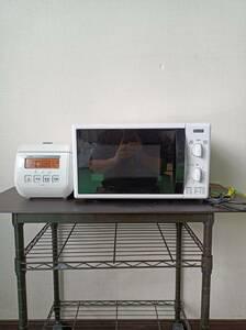 電子レンジ・炊飯器/2点セット☆/電子レンジ:YAMADA SELECT//ヤマダセレクト/炊飯器:TOSHIBA/東芝/付属品は写真で全て/家電/0913c2