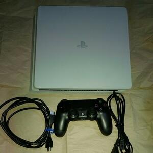 動作確認済み  PS4 白 薄型 本体 グレイシャーホワイト スリム slim 5490