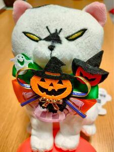 【ハロウィン】ハンドメイド・猫用シュシュ・首輪 ※ぬいぐるみは付きません