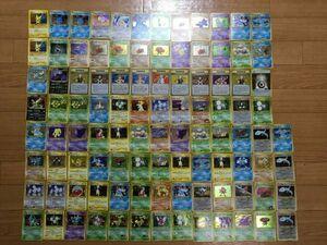 ☆美品のみ★ポケモン カード 旧裏面 キラカードのみ 100枚 大量 まとめ売り ピチュー わるい やさしい 等 pokemon card ポケカ