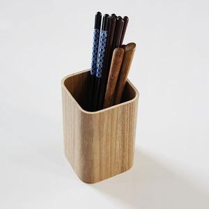 箸立て 四角 ナチュラル 木製 箸たて 箸ケース カトラリー入れ スタンド スプーン フォーク