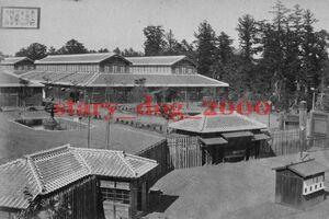 複製復刻 絵葉書/古写真 第二回内国勧業博覧会入口の噴水 東京 上野公園 明治期 WA_000