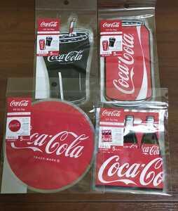 即決!送料無料!コカ・コーラ ジップバッグ 4種類セット ビニール袋 グッズ
