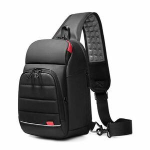 【本日限定セール】ZARA系 海外ブランド ボディバッグ 大容量 USBポート 軽量 メンズ ワンショルダーバッグ 防水 黒