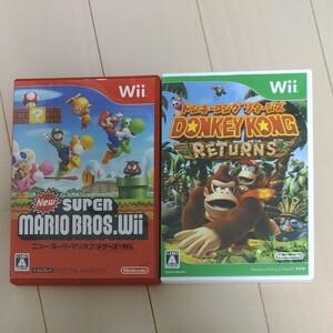Wiiソフト NewスーパーマリオブラザーズWii ドンキーコングリターンズ