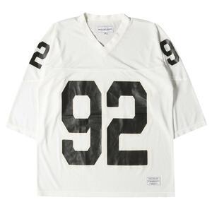 ROUGH AND RUGGED ラフアンドラゲッド Tシャツ メッシュ ジャージ 7分袖 フットボールTシャツ オフホワイト 3