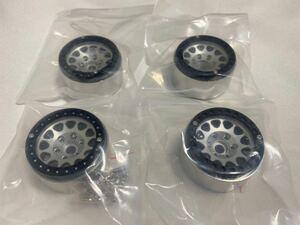 国内即納4本セット CNC高精度ビードロック 1.9インチ アルミホイール RCクローラー TRX4 SCX10 RC4WD CC02 アキシャル トラクサス タミヤ