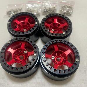 国内即納 4本セット CNC高精度ビードロック 1.9インチ アルミホイール RCクローラー TRX4 SCX10 RC4WD CC02 アキシャル トラクサス タミヤ