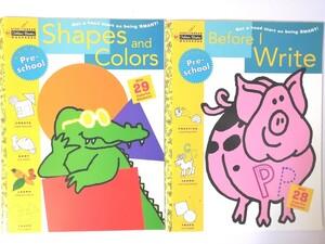 知育 英語 幼児 ワークブック Pre school Proven Educational Products シール付き