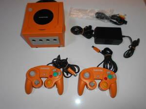清掃動作品 本体 オレンジ DOL-001 電源コード DOL-002 コントローラー DOL-003 任天堂 AVケーブル(社外新品)GC ゲームキューブ
