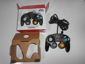 美品 清掃動作品 純正 コントローラー スマブラブラック 箱 DOL-003 任天堂 GC ゲームキューブ Nintendo GAMECUBE ニンテンドー