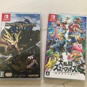 大乱闘スマッシュブラザーズSP Nintendo Switch ニンテンドースイッチ スマブラ スイッチ モンハンライズ ソフト