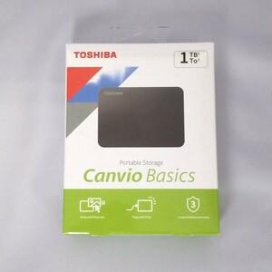 1TB 新品未開封 東芝 ポータブルHDD Canvio Basics 外付けハードディスク PC Windows Mac