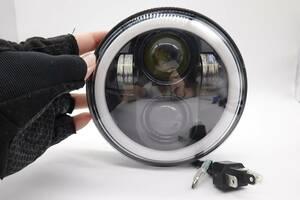 送料無料 5.75インチ LEDヘッドライト DRL H4コンバーターのプラグアンドプレイ ダビッドソン ダイナ用オートバイプロジェクター 未使用