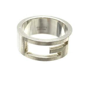 GUCCI グッチ Gリング サイズ約11.5号 指輪 シルバー SV925 アクセサリー ジュエリー ロゴデザイン メンズ レディース 管理RY21003505